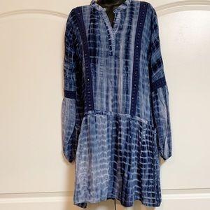 Romeo & Juliet Blue Tie Dye Drop Waist Dress M